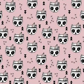 Cool geometric Scandinavian winter style indian summer animals little baby panda blush pink XS
