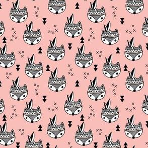 Cool geometric Scandinavian winter style indian summer animals little baby fox peach pink blush XS