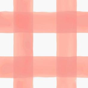 """Watercolor Gingham // Peach 3.5"""""""