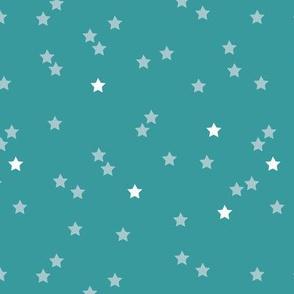 Soft stars good night sweet dreams sparkle blue gender neutral