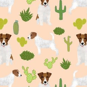jack russell terrier fabric with cactus summer cacti succulent jack russells cute dogs dog pet dog