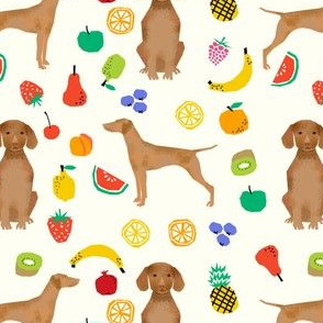 vizsla dog fruits cute dogs pet dogs fabric sweet dog