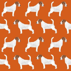 jack russell terriers orange cute dog fabric for dog owners jack russells