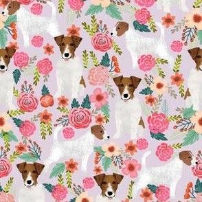jack russell terrier cute florals flowers pet dog flowers pets jack russell fabrics