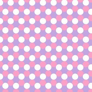 Purple/Pink Polka Dots
