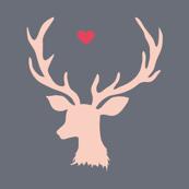 Pink Deer with Heart