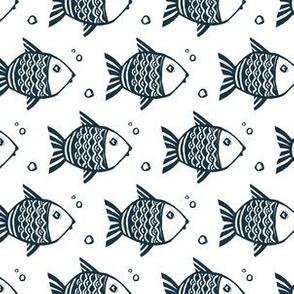 Dark blue fishes