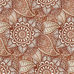 Mehndi flowers pattern