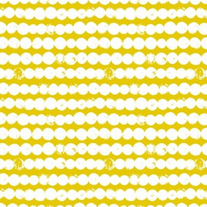 Circles and rows cool Scandinavian style dots brush strings gender neutral yellow