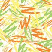 Electric Citrus Scribbles