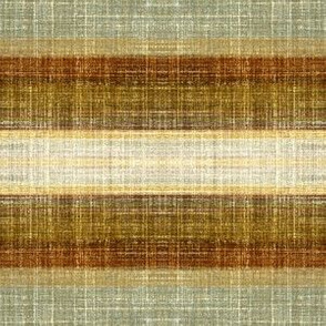 Tobacco Stripe Faux Linen