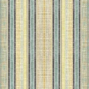 Celadon faux linen ticking stripe
