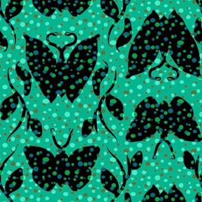 Turquoise and Green Butterfly Column