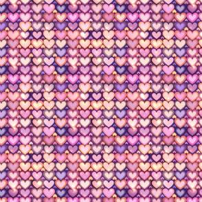 Pink shining hearts
