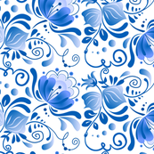 Blue gzhel flowers