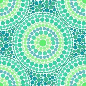 Australian green dots