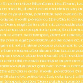 lorem ipsum on honey gold