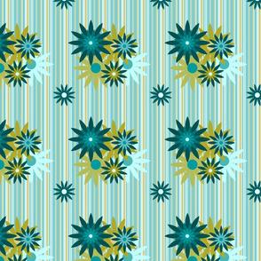 Flowers on Stripes June
