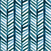 Teal Painted Chevron