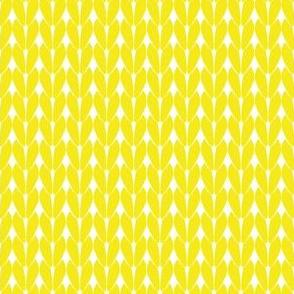 Knit Stitches - Yellow- Knitter's Kitchen