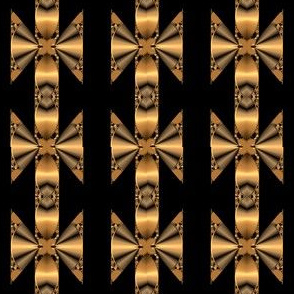 Black Gold Bronze Geometric Stripe