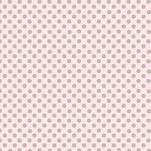 Blush polka dots on pale pink