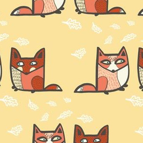 Pairs of Friendly Foxes