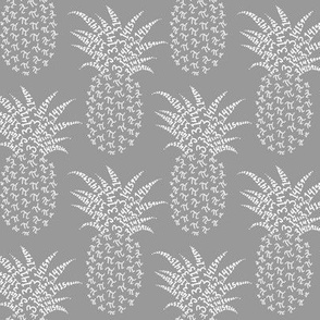 pi-napple pineapple in neutral grey