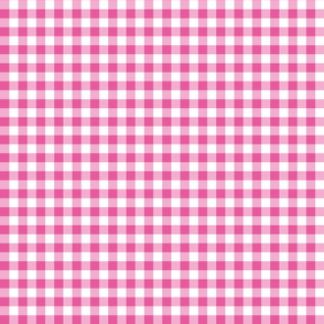 Mini Gingham Bright Pink
