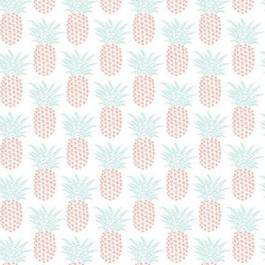 petite pi pineapples, mint and coral