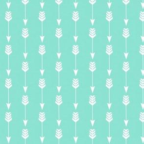 Arrow on Mint Seafoam