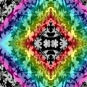 rainbow botanical kalidescope