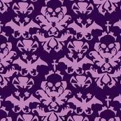 Skull Damask Purple/lt.purple