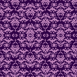 Skull Damask Purple/lt.purple twist