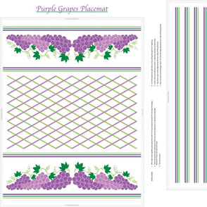 Purple Grapes Placemat