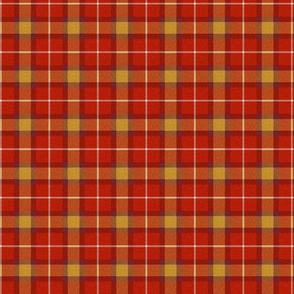 Custom Pinkish Red Purple Gold Plaid