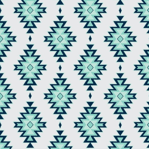 Kilim - mint,navy,grey - Benician Coast