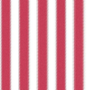 Pinkish Red and White Ripple Stripes