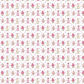 wedding cakes polka dots pink