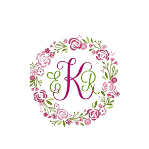 Berry 12 Personalized  shabby chic rose wreath