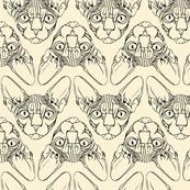 Sphynx lines fabric Ivory