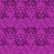 Sphynx lines fabric Purple