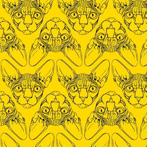Sphynx lines fabric Yellow