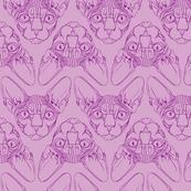 Sphynx lines fabric lavender & purple