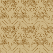 Sphynx lines fabric khaki & brown