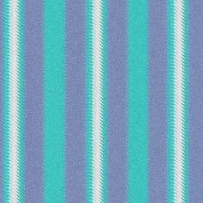 Turquoise Lavender and White Ripple Stripes