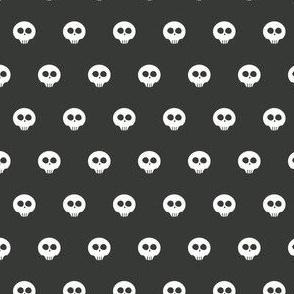 Charcoal Skull Dots 2