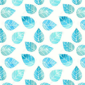 Block Print Leaves