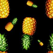 Pineapple in Black - Large Print