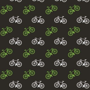 Bicycle Print - Lime